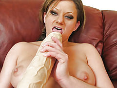 She Fucks A Two Foot Veiny Brutal Dildo