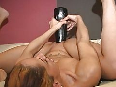 Real Shocking Brutal Dildo Penetration
