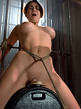 Holly West - bound,machine fucked cum drips out of her pussy hole