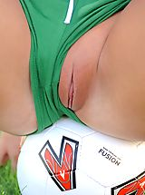 Panties Pics: Alison Angel gets ready for the big game