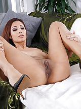 Trimming Pussy, Photo Set No. 1348 Jade Jantzen unveils her own sizeable cans and bares her own solid slit
