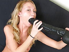 largest dildo, Phoenix stuffing a brutal dildo in her tight ass
