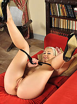 Spreading Legs reveals pink pussy #754 Tracy Delicious